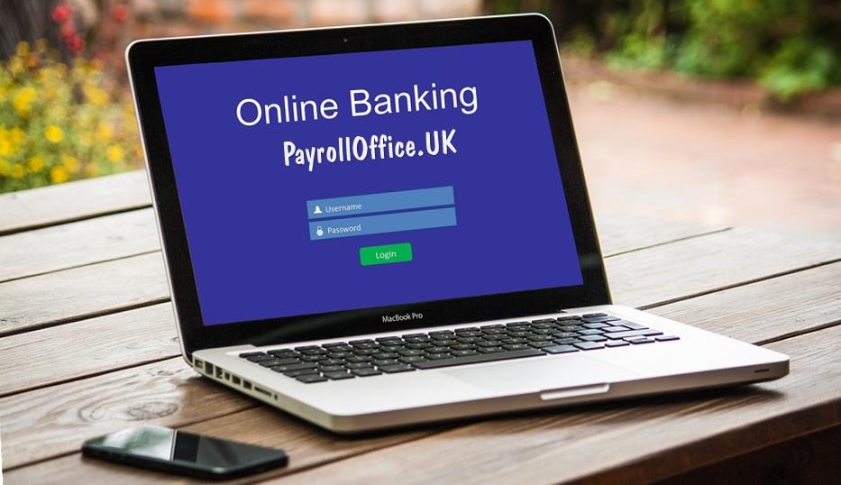 photo: Online Banking computer screen