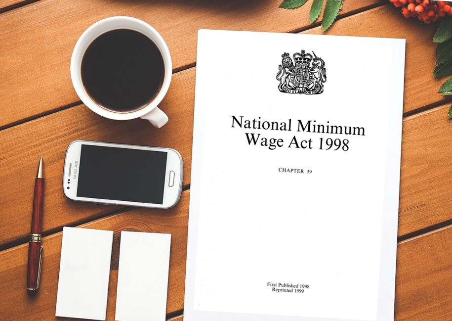 image of copy of National Minimum Wage Act on table