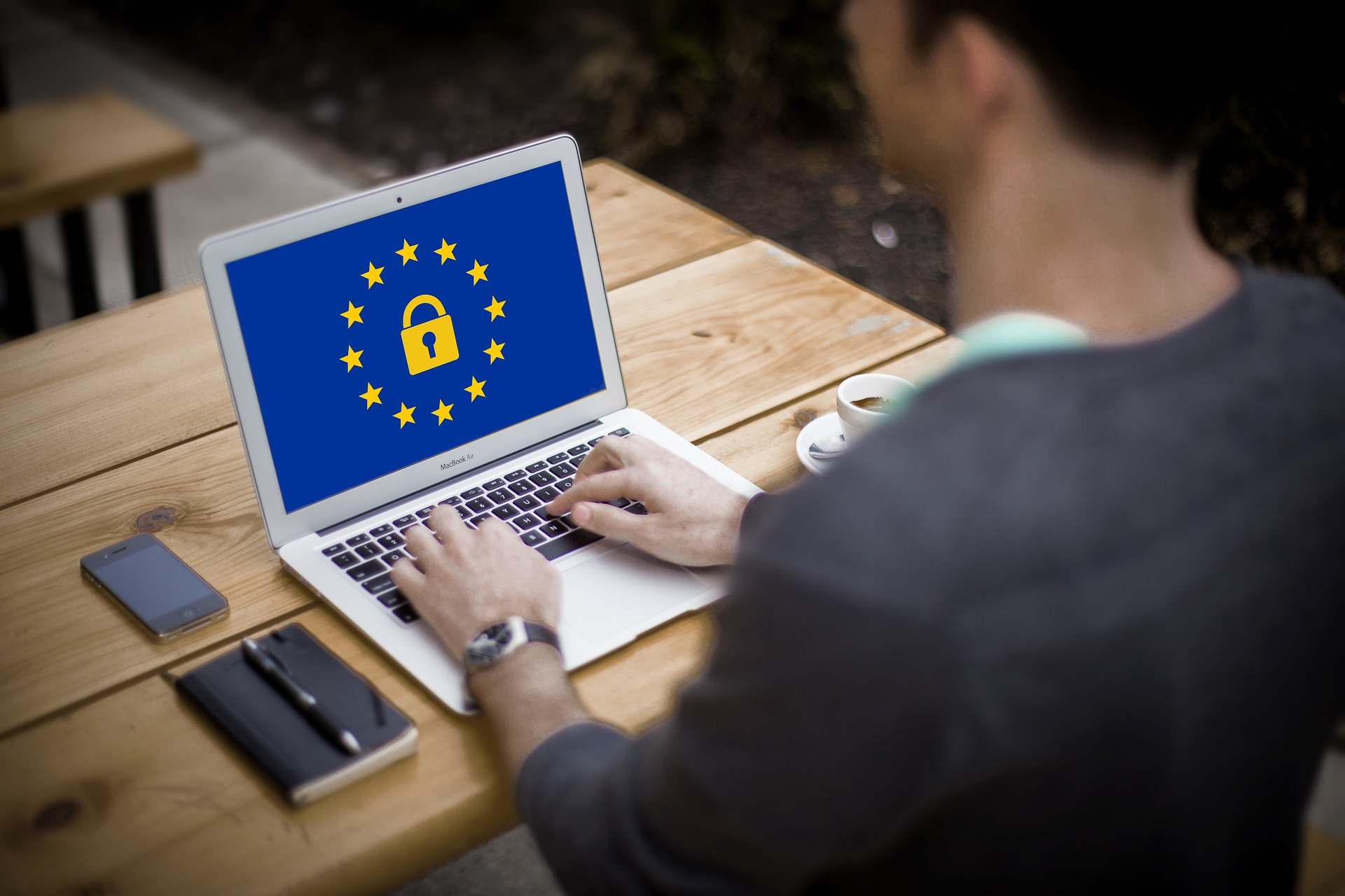 GDPR image on a laptop screen